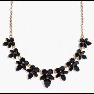 J crew Black Gem Petal necklace